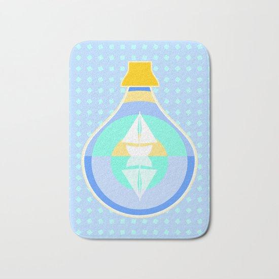 Ship in glass bottle Bath Mat