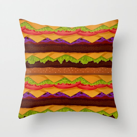 Infinite Burger Throw Pillow