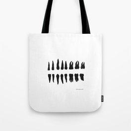 teeth of man Tote Bag
