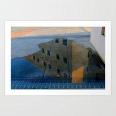 Puddle Reflection  Art Print