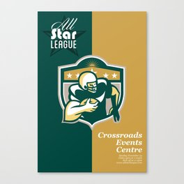 American Gridiron All Star League Poster Canvas Print