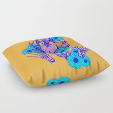 Frog Skeleton Floor Pillow