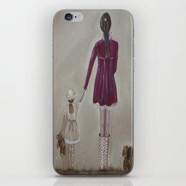 girl and dog iPhone Skin