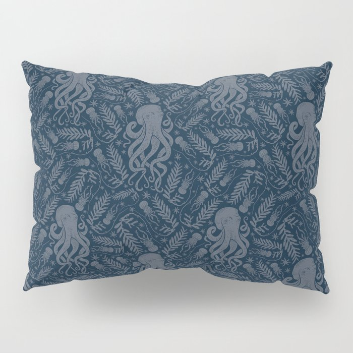Octopus Squiggly King Of The Sea Pattern Pillow Sham