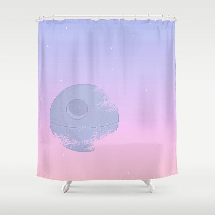 Pastel Death Star Shower Curtain By Stardustspecks
