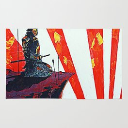 samurai sunrise Rug