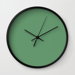 Matte Green - color story Wall Clock