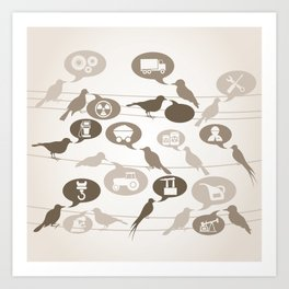 Birds about the industry Art Print