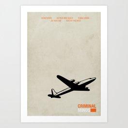 CRIMINAL MINDS - MINIMAL Art Print