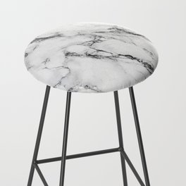 White Marble Texture Bar Stool