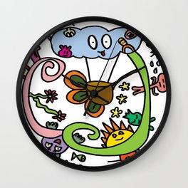 Sky Doodles  Wall Clock