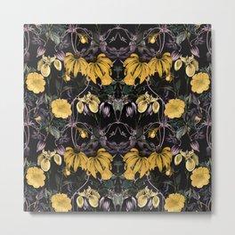 Nocturnal botanical garden kaleidoscope Metal Print
