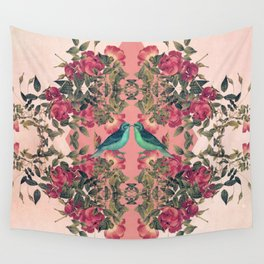 Love Birds II (pink edition) Wall Tapestry