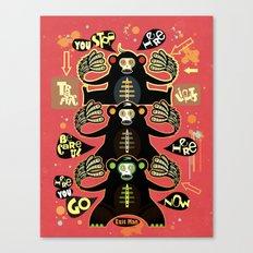 Traffic light monkey 2 Canvas Print