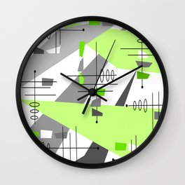 Mid-Century Modern Atomic Age Abstract Wall Clock