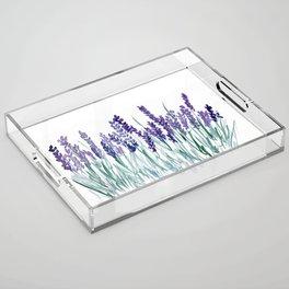 Larkspurs Acrylic Tray