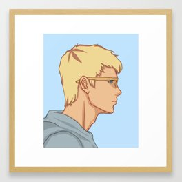 Jason Grace - Side Profile Framed Art Print