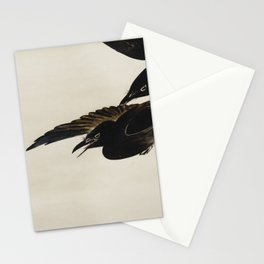 Two Crows - Shibata Zeshin (1807-1891) - Japanese scroll painting Stationery Cards