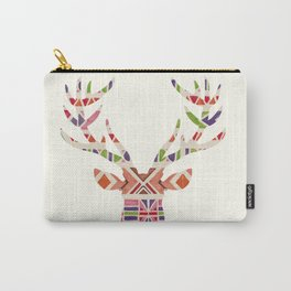 Ethnic deer silhouette art print Carry-All Pouch