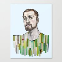 boyfriend Canvas Prints featuring a boyfriend by Alexandra Boman