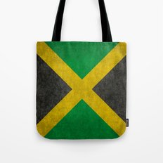 Jamaican flag, Vintage retro style Tote Bag