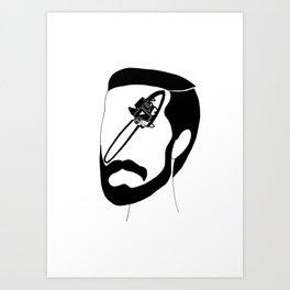 Chainsaw master Art Print