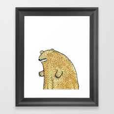 humble bear Framed Art Print