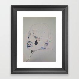 sad face Framed Art Print