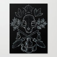 witchcraft Canvas Prints featuring Witchcraft by Auberginen