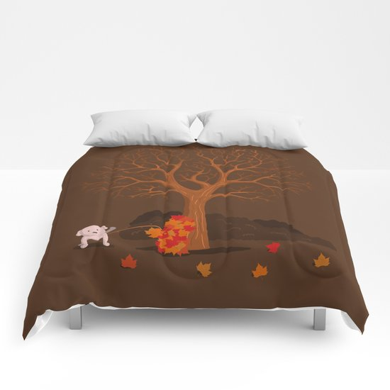 the fall and dog Comforters