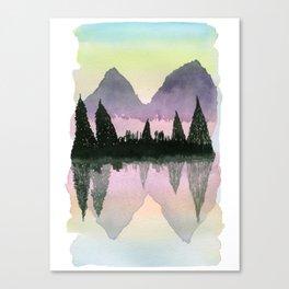 Watercolor: Mythical Lake Canvas Print
