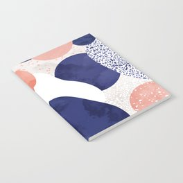 Terrazzo galaxy pink blue white Notebook
