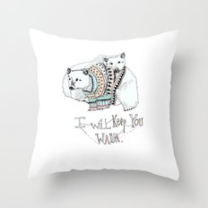 i will keep you warm Throw Pillow