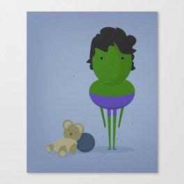 Hulk: My angry hero! Canvas Print