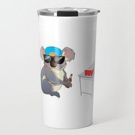 Koalalfied to Party Funny Drinking T-shirt Travel Mug
