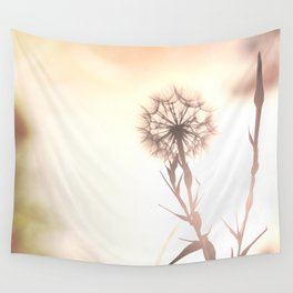 Pink Distant Dandelion Flower - Floral Nature Photography Art and Accessories Wall Tapestry