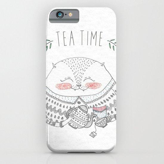 tea time cat iPhone & iPod Case