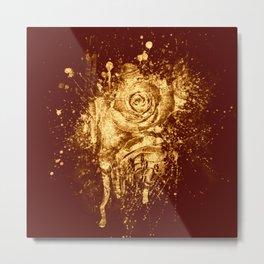 golden  rose explosion Metal Print