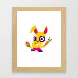 Cartoon Easter Bunny Framed Art Print