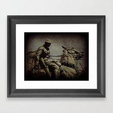 the cavalry Framed Art Print