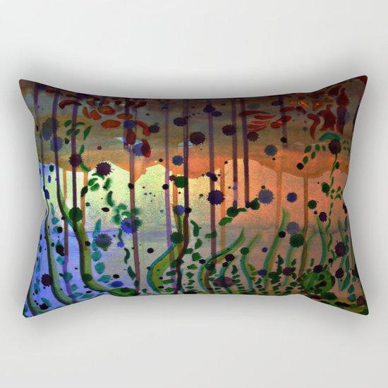 Underwater Sunray Rectangular Pillow