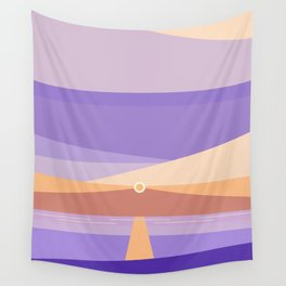 Sunset on the beach at 7:11 pm Wall Tapestry