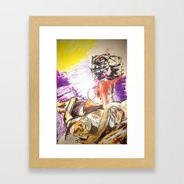 Black Passion Framed Art Print