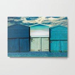 BEACH HUT FANTASY Metal Print