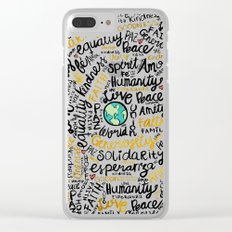 Positive Messages Clear iPhone Case