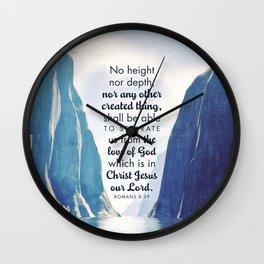 Romans 8:39 Wall Clock