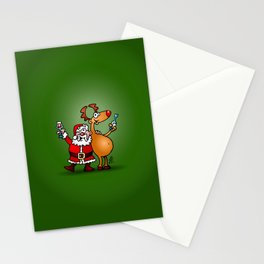 Santa Claus and his Reindeer Stationery Cards