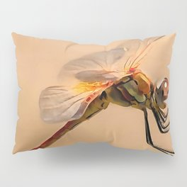 Painted Dragonfly Isolated Against Ecru Pillow Sham