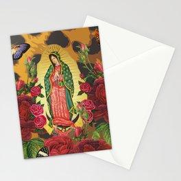 Virgen de Guadalupe Leopard Stationery Cards