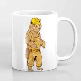 Construction Worker Grizzly Bear Coffee Mug